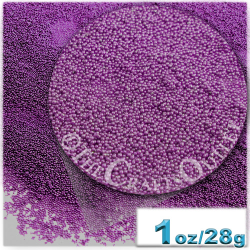 Glass Beads, Microbeads, Opaque, 0.6mm, 1-oz, Lavender