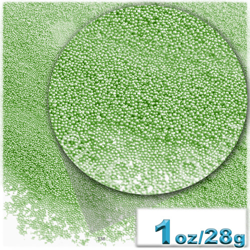Glass Beads, Microbeads, Opaque, 0.6mm, 1-oz, Florescent Green