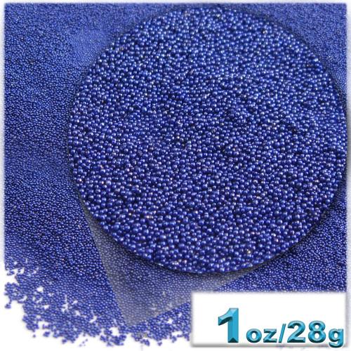 Glass Beads, Microbeads, Opaque, 0.6mm, 1-oz, Royal Blue