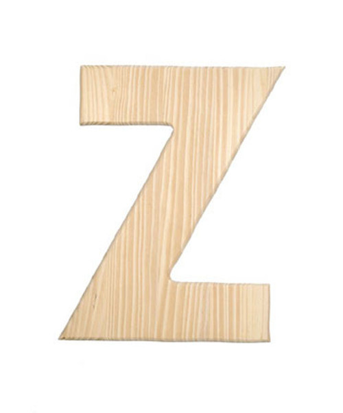 Unfinished Wood, 12-in, 2-in Thick, Letter, Letter Z