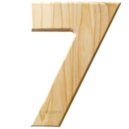 Unfinished Wood, 12-in, 2-in Thick, Number, Number 7