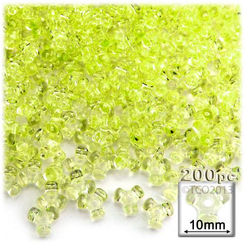 Plastic Tri-Bead, Transparent, 11mm, 200-pc, Yellow