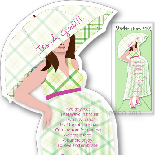 One Baby Shower invitations Mod Mom Checkered Pattern in Light Green