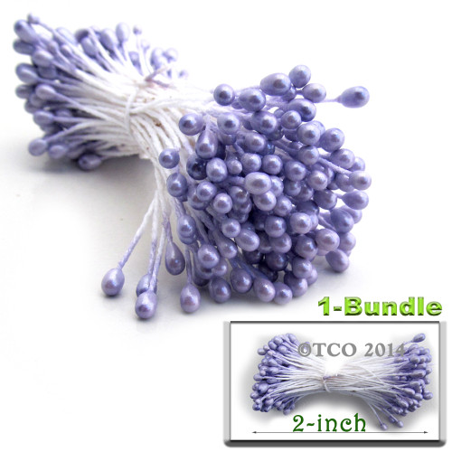 Pearl Stamen, 2-in, 3mm, 144-pc, Lavender Purple
