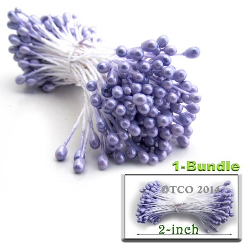 Pearl Stamen, 2-in, 3mm, 144-pc, Lavender Purple