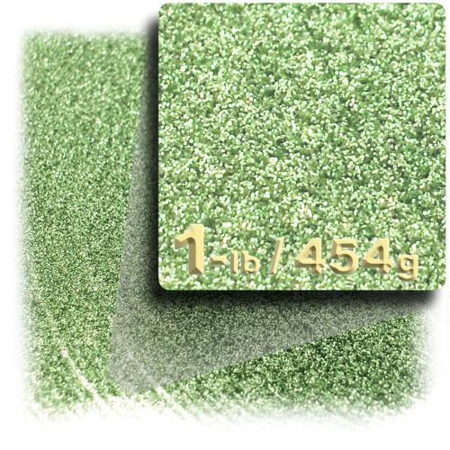 Glitter powder, 1-LB/454g, Fine 0.008in, Apple Green
