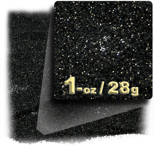 Glitter powder, 1oz/28g, Fine 0.008in, Black