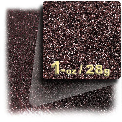 Glitter powder, 1oz/28g, Fine 0.008in, Coffee Brown