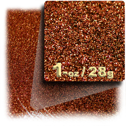 Glitter powder, 1oz/28g, Fine 0.008in, Copper