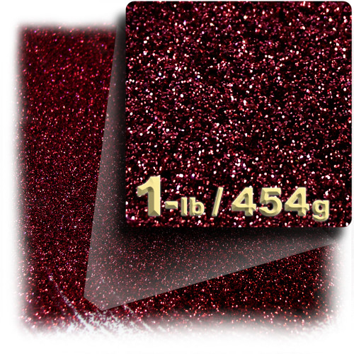 Glitter powder, 1-LB/454g, Fine 0.008in, Devil Red