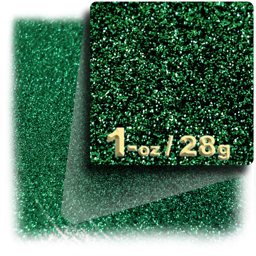 Glitter powder, 1oz/28g, Fine 0.008in, Emerald Green
