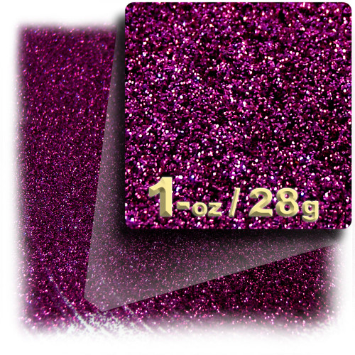 Glitter powder, 1oz/28g, Fine 0.008in, Fuchsia