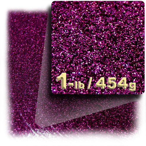 Glitter powder, 1-LB/454g, Fine 0.008in, Fuchsia