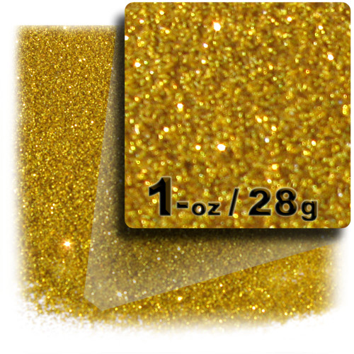 Glitter powder, 1oz/28g, Fine 0.008in, Gold