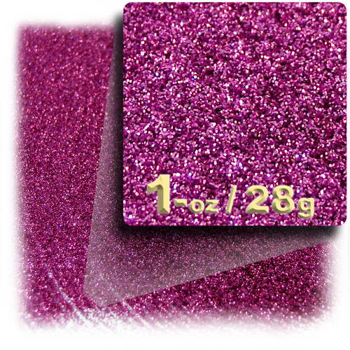 Glitter powder, 1oz/28g, Fine 0.008in, Hot Pink
