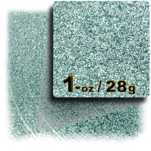Glitter powder, 1oz/28g, Fine 0.008in, Jade Blue