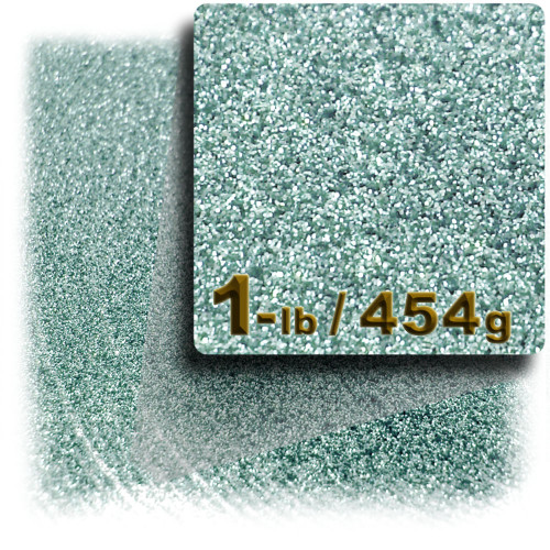 Glitter powder, 1-LB/454g, Fine 0.008in, Jade Blue