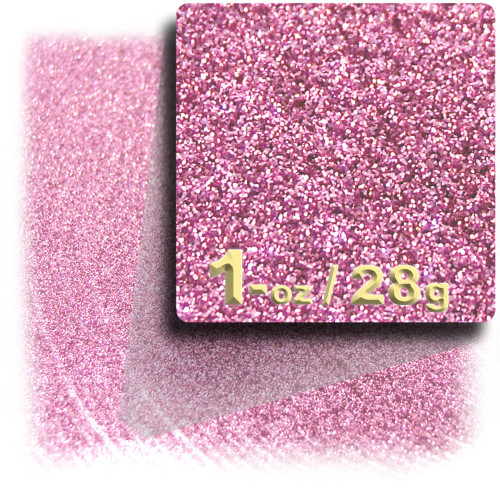 Glitter powder, 1oz/28g, Fine 0.008in, Pink