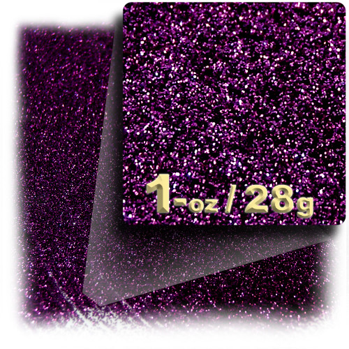 Glitter powder, 1oz/28g, Fine 0.008in, Purple