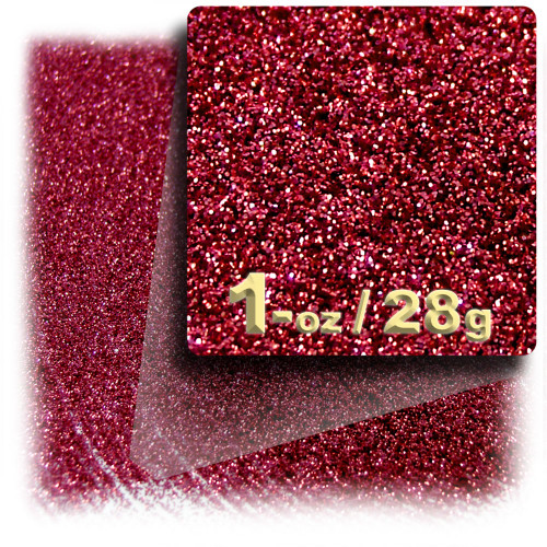 Glitter powder, 1oz/28g, Fine 0.008in, Rich Red