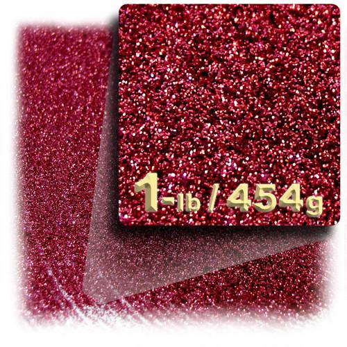Glitter powder, 1-LB/454g, Fine 0.008in, Rich Red