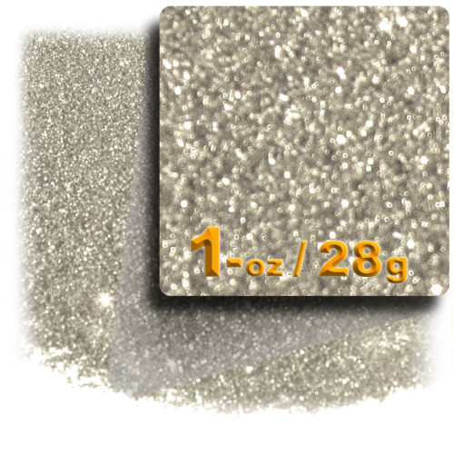 Glitter powder, 1oz/28g, Fine 0.008in, Silver
