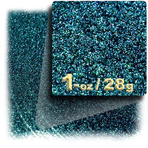 Glitter powder, 1oz/28g, Fine 0.008in, Turquoise