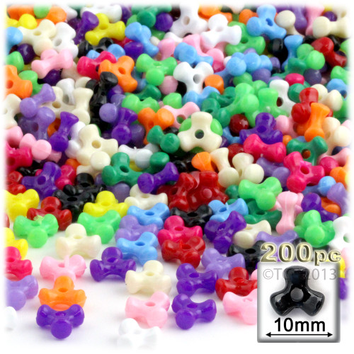 Tribeads, Opaque, Tribead, 10mm, 100-pc, Multi Mix