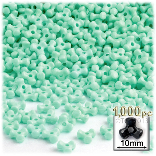 Tribeads, Opaque, Tribead, 10mm, 1,000-pc, Turquoise