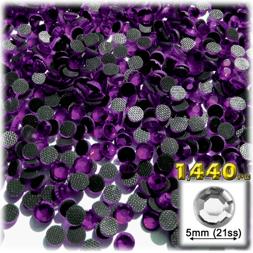 Rhinestones, Hotfix, DMC, Glass Rhinestone, 5mm, 1,440-PC, Purple Amethyst