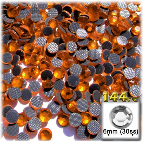 Rhinestones, Hotfix, DMC, Glass Rhinestone, 6mm, 144-pc, Orange