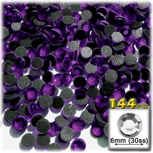 Rhinestones, Hotfix, DMC, Glass Rhinestone, 6mm, 144-pc, Purple, Amethyst
