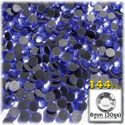 Rhinestones, Hotfix, DMC, Glass Rhinestone, 6mm, 144-pc, Royal Blue (Saphire)