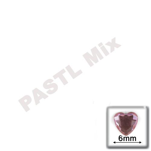 Rhinestones, Flatback, Heart, 6mm, 144-pc, Pastel Assortment