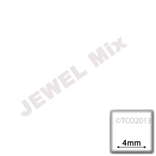 Rhinestones, Flatback, Heart, 4mm, 288-pc, Jewel Tone Assortment