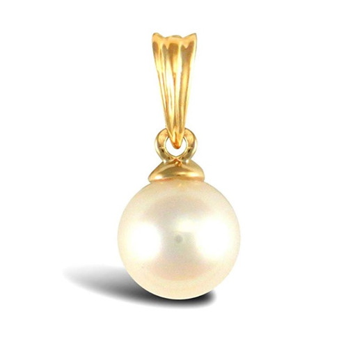 6mm 9ct Gold Cultured Akoya pearl Pendant