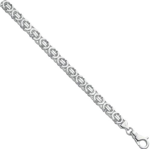 "Gents 8.5"" 10mm thick Sterling silver Byzantine link bracelet 41.5g"