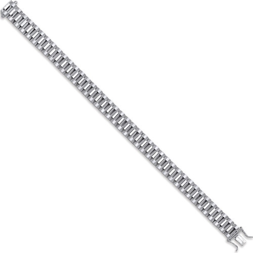 """Gents 8.5"""" 11mm thick Sterling silver Watch Strap link bracelet 33.5g"""
