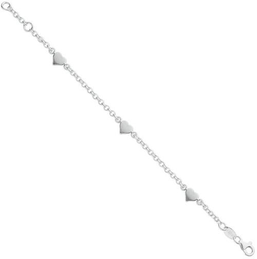 """6"""" Baby Kids Sterling silver Heart Belcher bracelet 3.2g"""