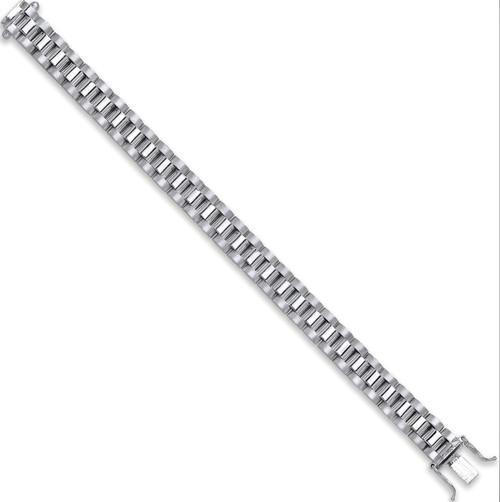 6 inch Sterling silver baby kids watch strap style bracelet  21g