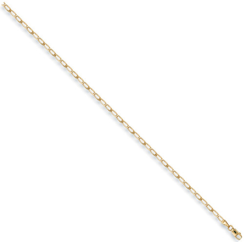 """10"""" 25cm 2mm thick 9ct Gold Rada Anklet Chain 2.2g"""