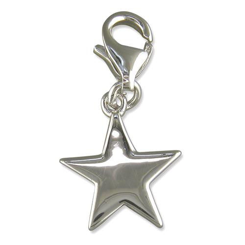 Sterling Silver Clip-on Star Charm 1.8g