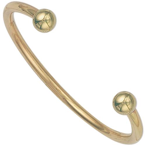 9ct Gold 4mm Thick Ladies Torque Bangle 21g