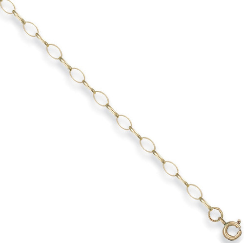 """24"""" 61cm 4mm thick 9ct gold oval link belcher chain 6.3g"""