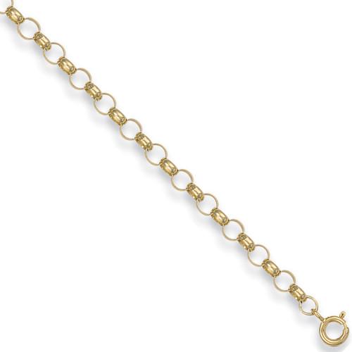 """20"""" 51cm 4.5mm thick 9ct gold round link belcher chain 11.1g"""