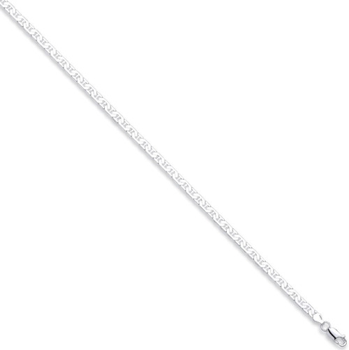 22 inch 56cm Sterling Silver 3mm thick Anchor link curb chain 13.5g