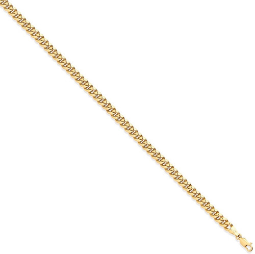 """Ladies 7.5"""" 5mm thick 9ct Gold Hollow domed curb Bracelet 5.5g"""