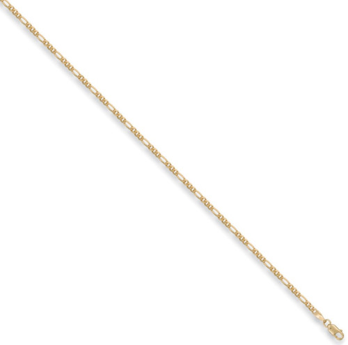 """30"""" 76cm 2.25mm thick 9ct Gold Figaro Chain 6g"""