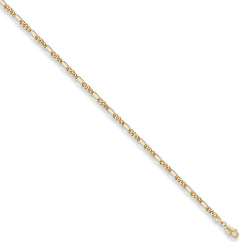 """18"""" 46cm 3mm thick 9ct Gold Figaro Chain 6.1g"""