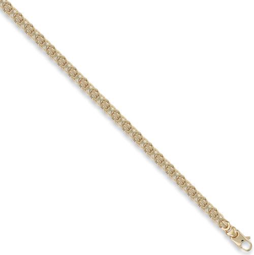 "20"" 51cm 5mm thick 9ct Gold Byzantine Chain 32g"
